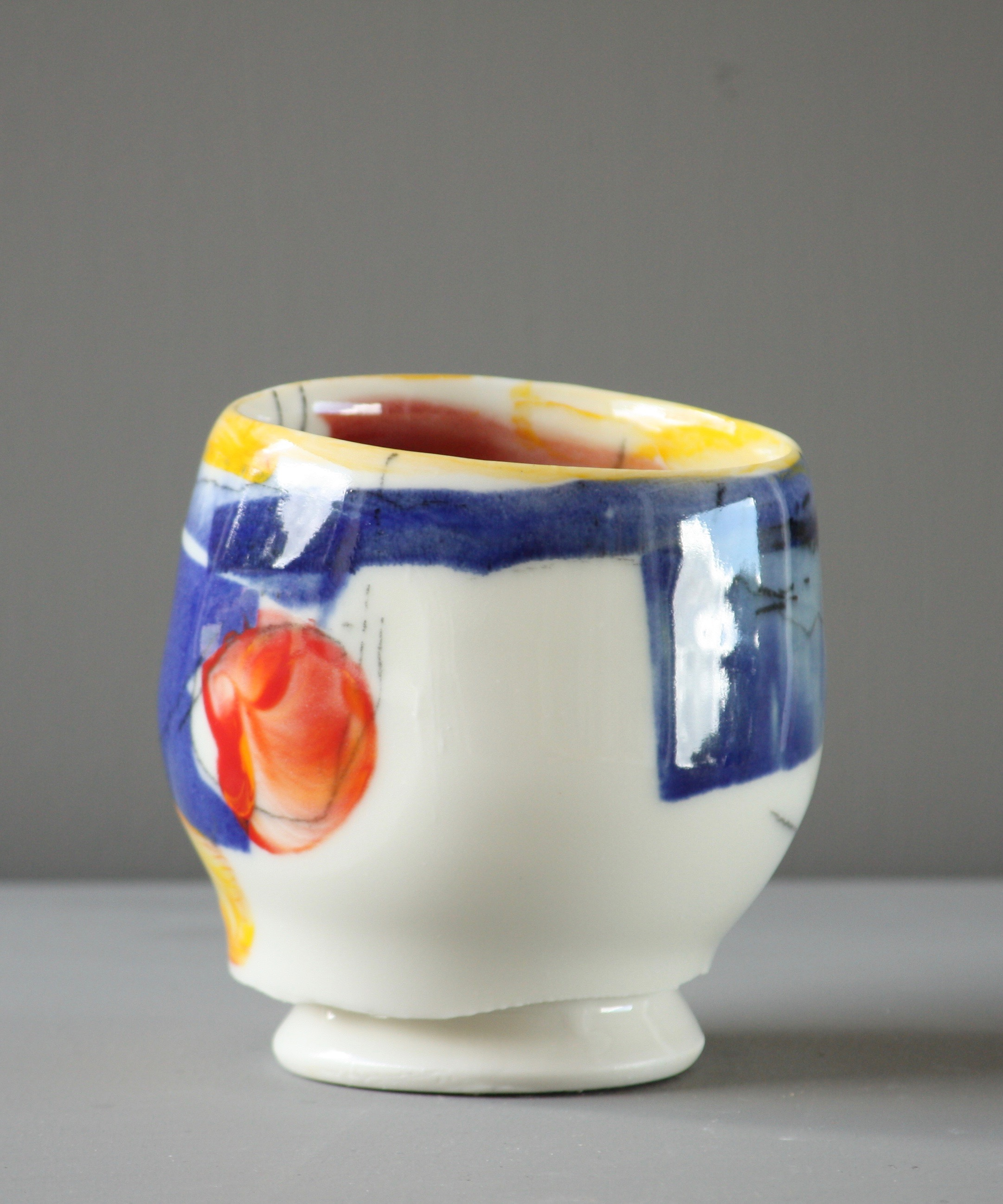 Hot Ice Ceramic Vessel with Decal detail by Ashley Howard